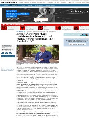 """Jesús Aguirre: """"Las residencias han sido el éxito, entre comillas, de Andalucía"""""""