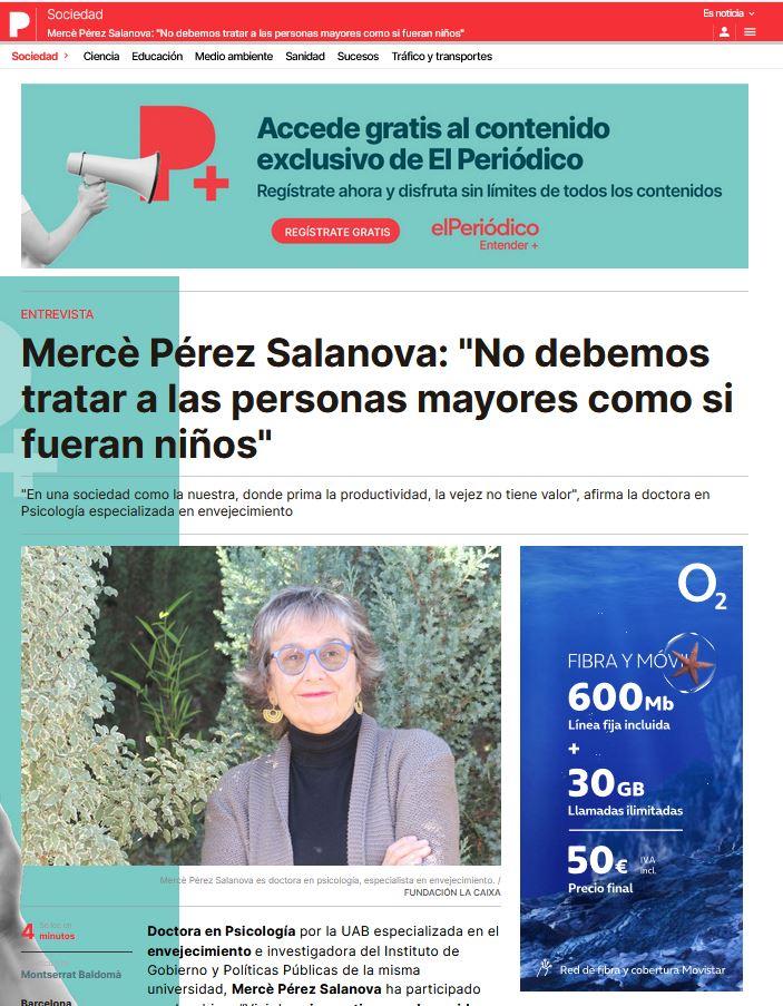 """Mercè Pérez Salanova: """"No debemos tratar a las personas mayores como si fueran niños"""""""