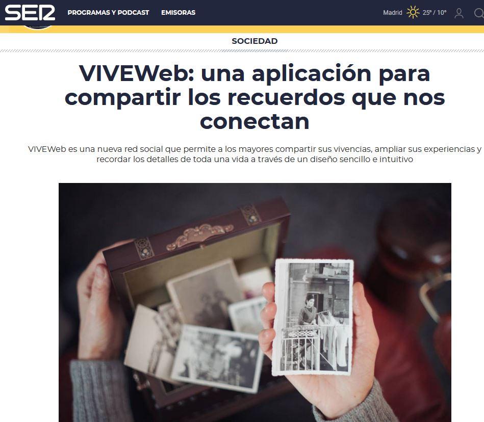 VIVEWeb: una aplicación para compartir los recuerdos que nos conectan