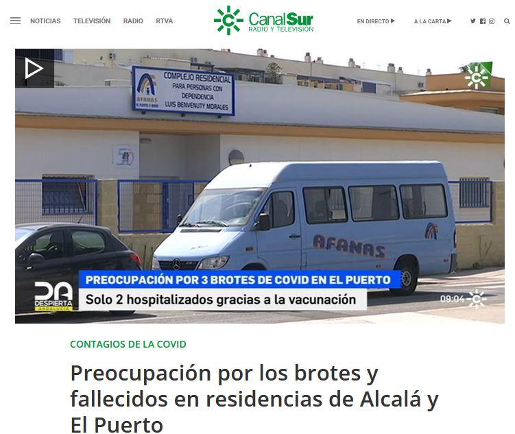 Preocupación por los brotes y fallecidos en residencias de Alcalá y El Puerto