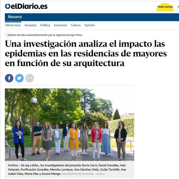 Una investigación analiza el impacto las epidemias en las residencias de mayores en función de su arquitectura