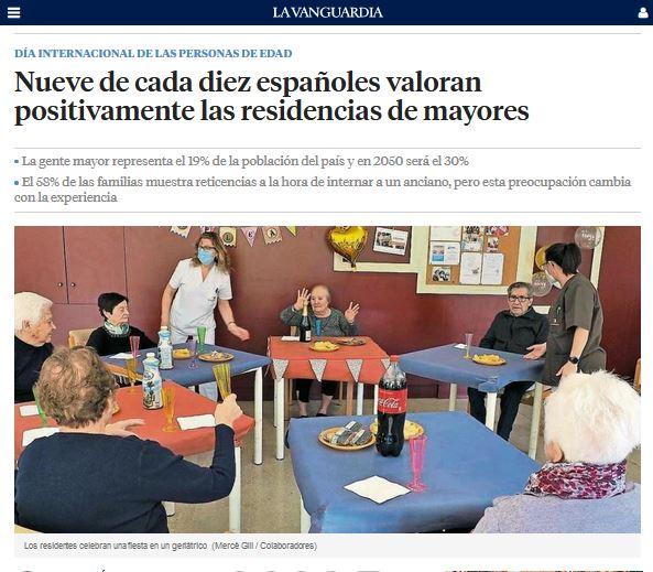 Nueve de cada diez españoles valoran positivamente las residencias de mayores